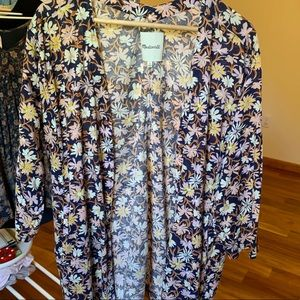 Madewell Floral Kimono with Pockets